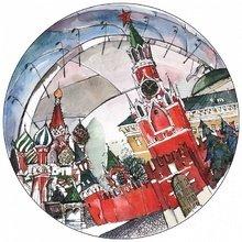 """Тарелка сувенирная с волнистыми краями  """"Спасская Башня"""""""