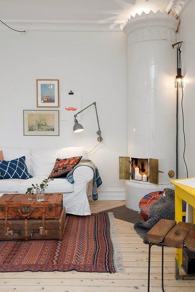 Фотография: Гостиная в стиле Скандинавский, Декор интерьера, Мебель и свет, Декор дома, Советы, Ковер – фото на InMyRoom.ru