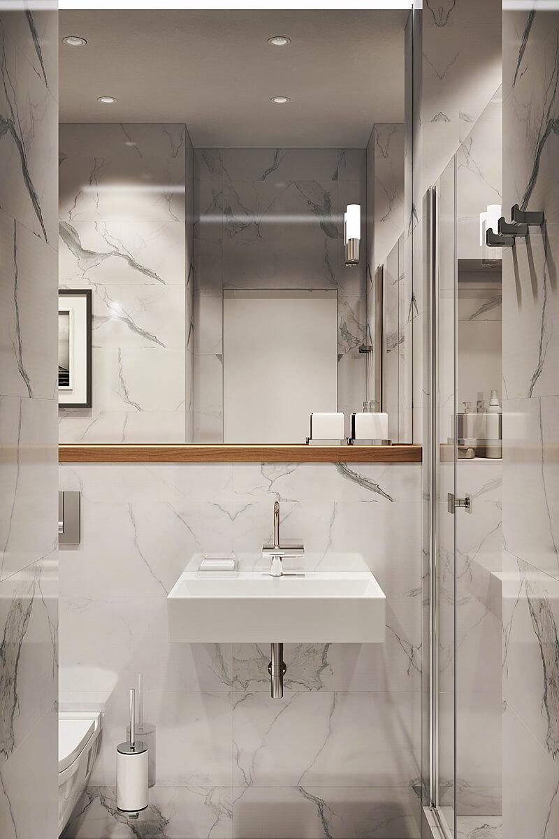 Фотография: Ванная в стиле Современный, Квартира, Проект недели, Geometrium, ЖК «Филиград» – фото на InMyRoom.ru