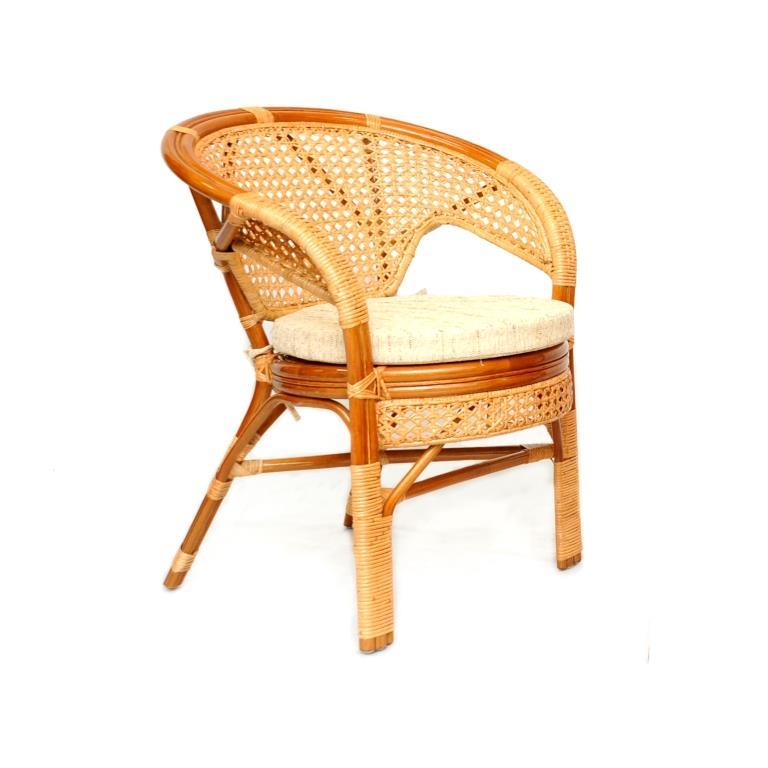 """Кресло """"Пеланги"""" из ротанга с ажурным плетением"""