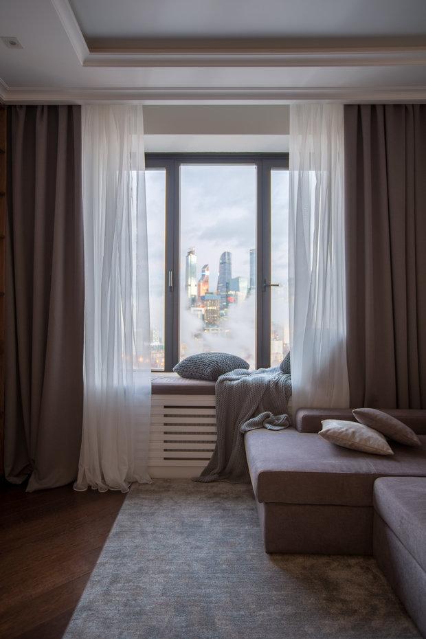 Фотография: Гостиная в стиле Современный, Квартира, Проект недели, Москва, 3 комнаты, 60-90 метров, Анастасия Бондарева – фото на INMYROOM