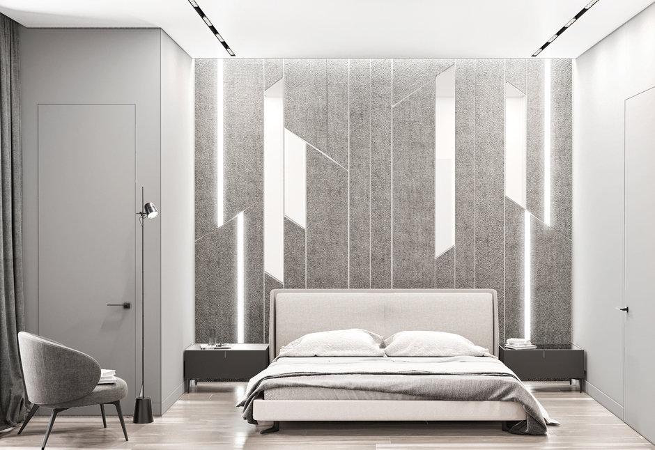 Фотография: Спальня в стиле Современный, Квартира, Miele, Проект недели, Москва, Quadro room, 4 и больше, Более 90 метров – фото на InMyRoom.ru