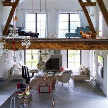 Фотография: Гостиная в стиле Эклектика, Дом, Франция, Дома и квартиры, Фьюжн – фото на InMyRoom.ru