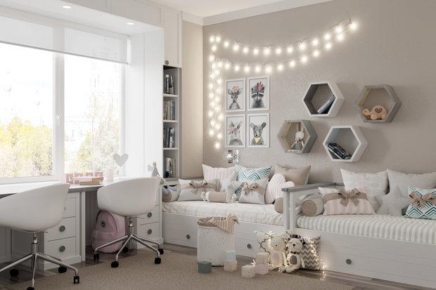Фото из портфолио CHILDREN'S ROOM | TWO GIRLS – фотографии дизайна интерьеров на INMYROOM