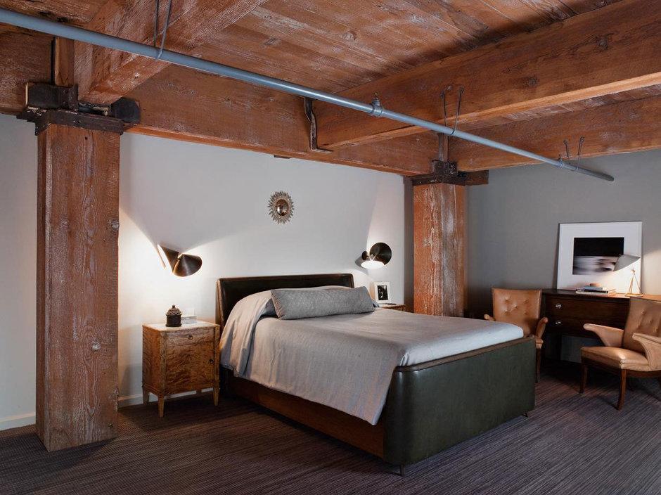 Фотография: Спальня в стиле Лофт, Декор интерьера, Квартира, Дома и квартиры, Проект недели, Илья Беленя – фото на InMyRoom.ru