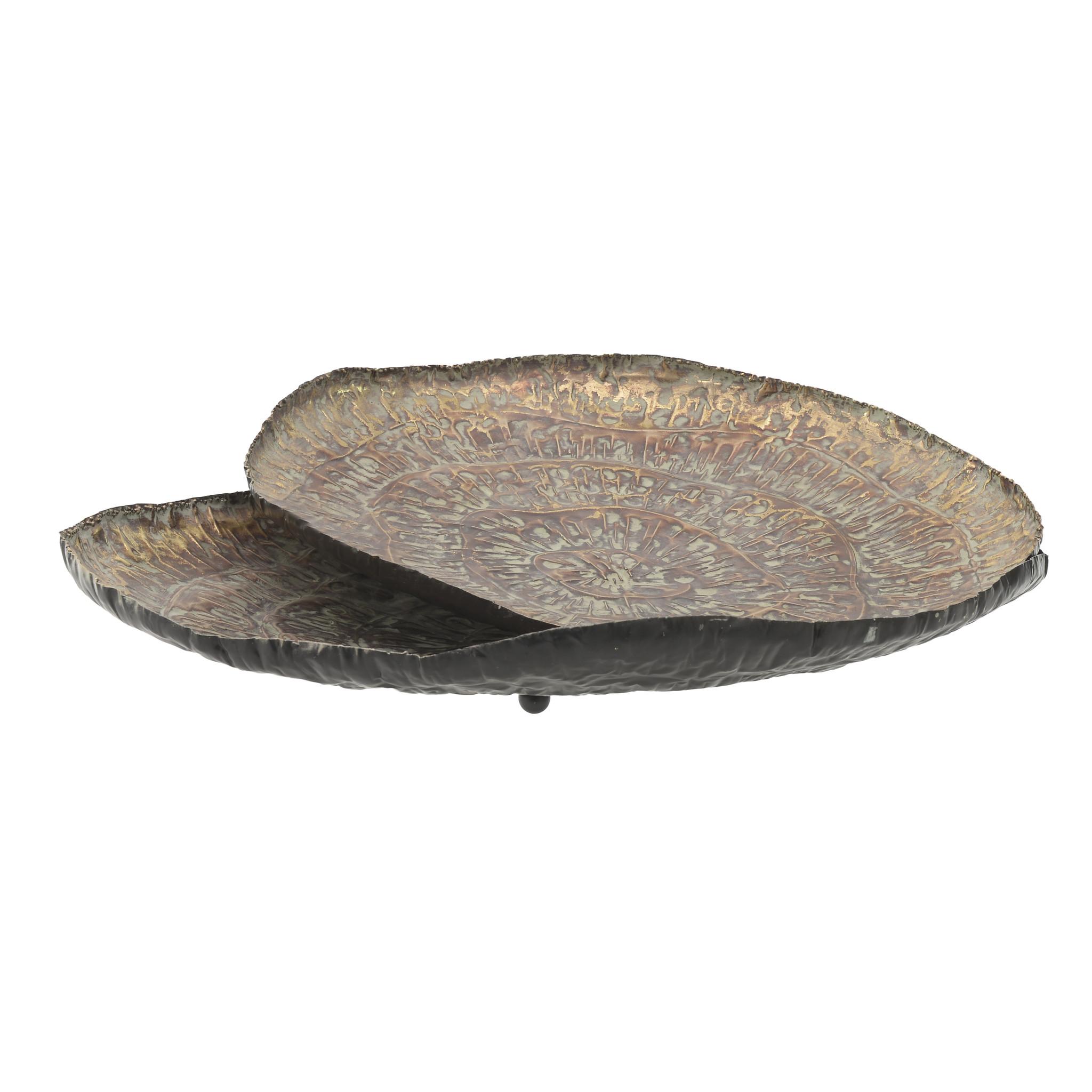 Набор из двух подносов коричневого цвета