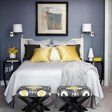 Фотография: Спальня в стиле Современный, Эклектика, Декор интерьера, Дизайн интерьера, Цвет в интерьере – фото на InMyRoom.ru