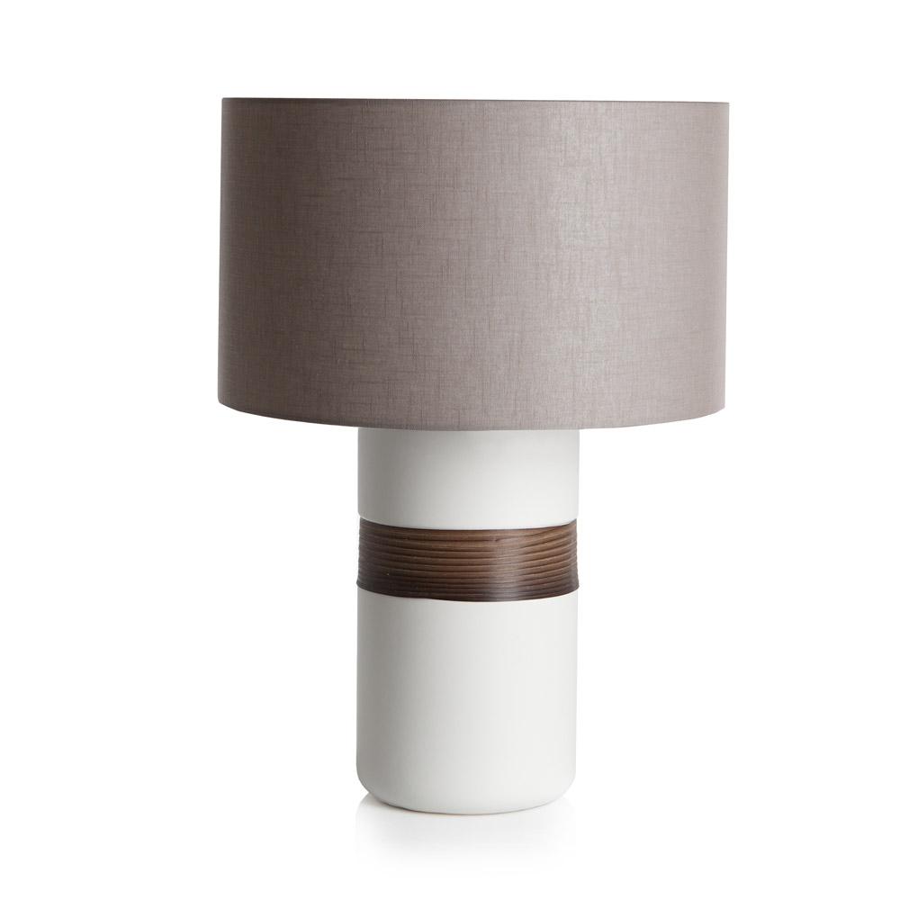 Купить Лампа с деревянным декором Loca Nera Wooden Cylinder , inmyroom, Италия