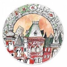 """Тарелка сувенирная с волнистыми краями """"Русский дом"""""""