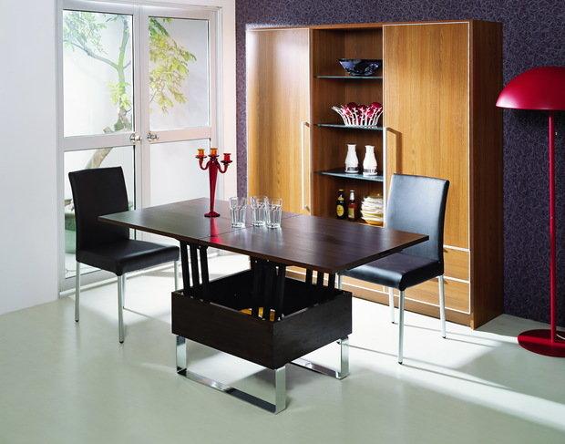 Фотография:  в стиле , Мебель и свет, Советы, обеденная зона в малогабаритке – фото на InMyRoom.ru