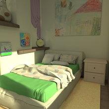 """Фото из портфолио Детская """" я в домике"""" – фотографии дизайна интерьеров на InMyRoom.ru"""