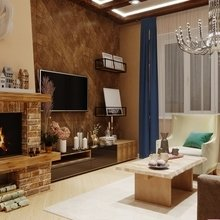 Фото из портфолио гостиная в стиле шале – фотографии дизайна интерьеров на INMYROOM
