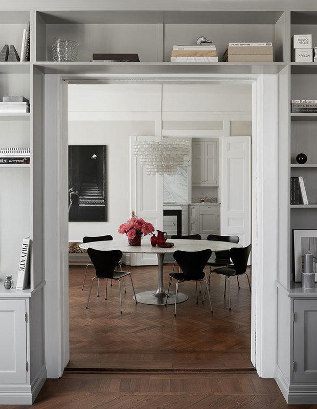 Дизайн трехкомнатной квартиры в Швеции