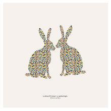 Картина (репродукция, постер): Зайцы в мозаике