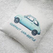"""Чехол на подушку """"VW жук"""" Голубой"""