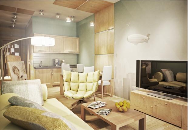 Фотография: Гостиная в стиле Современный, Эко, Декор интерьера, DIY, Малогабаритная квартира, Квартира, Белый, Бежевый, Серый – фото на InMyRoom.ru