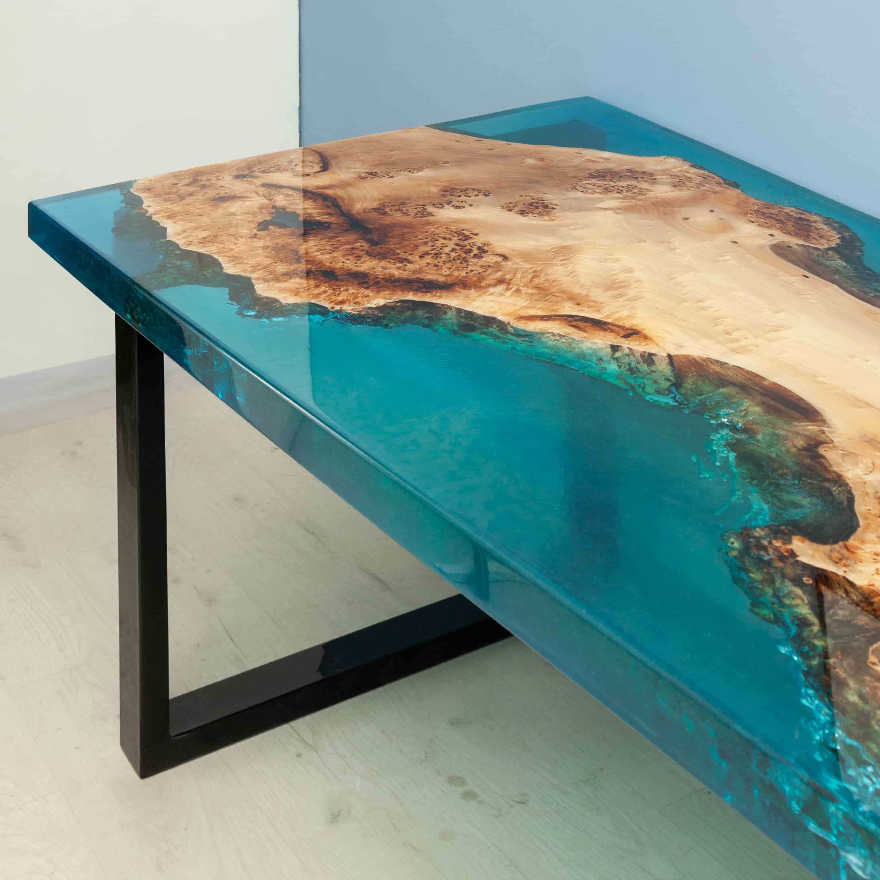 каждого дизайн стол эпоксидная смола фото снуд очень популярный
