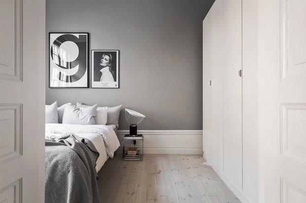 Фотография: Спальня в стиле Скандинавский, Декор интерьера, Малогабаритная квартира, Квартира, Швеция – фото на InMyRoom.ru