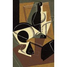 Картина (репродукция, постер): Moulin a cafe et bouteille - Хуан Грис