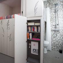 Фотография: Гостиная в стиле Скандинавский, Современный, Малогабаритная квартира, Студия, Белый – фото на InMyRoom.ru