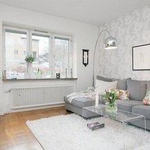 Фотография: Гостиная в стиле Скандинавский, Малогабаритная квартира, Квартира, Индустрия, События – фото на InMyRoom.ru