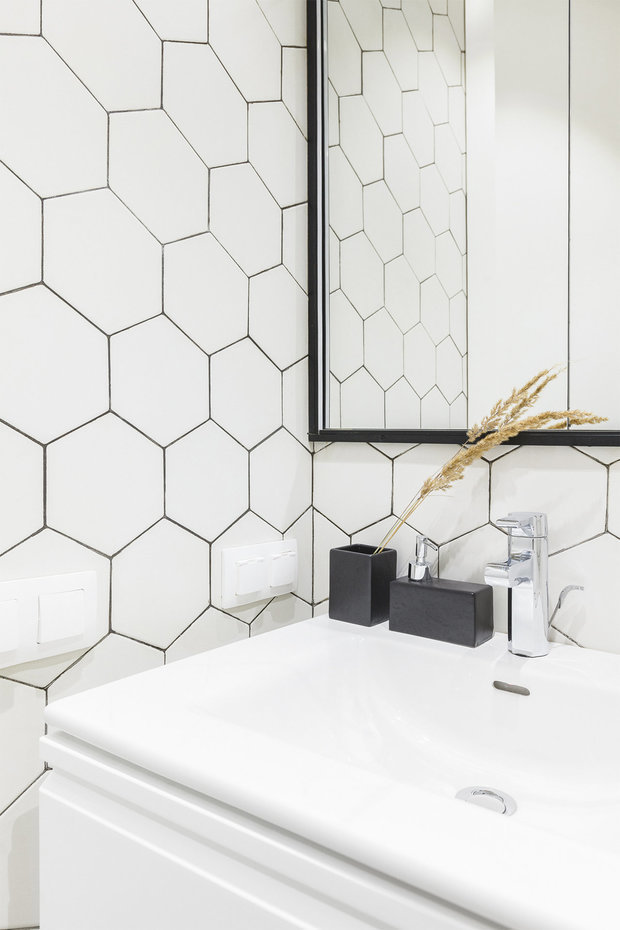Фотография: Ванная в стиле Скандинавский, Советы, Гид, отделка стен в ванной, интересная плитка в ванной, плитка в ванной – фото на INMYROOM