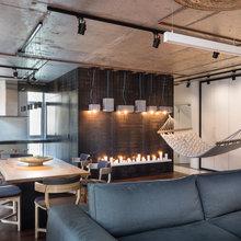 Фотография: Гостиная в стиле Лофт, Квартира, Проект недели, Киев, гамак в квартире, новостройка – фото на InMyRoom.ru