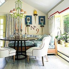 Фотография: Кухня и столовая в стиле Кантри, Декор интерьера, Декор дома, Шторы, Окна – фото на InMyRoom.ru