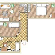 Фотография: Планировки в стиле , Малогабаритная квартира, Квартира, Дома и квартиры, Перепланировка, Переделка – фото на InMyRoom.ru