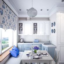 Фотография: Кухня и столовая в стиле Классический, Проект недели, Синий, Марина Саркисян, Монолитный дом, 2 комнаты, 40-60 метров – фото на InMyRoom.ru