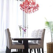 Фотография: Кухня и столовая в стиле Эклектика, Классический, Декор интерьера, DIY, Мебель и свет, Советы, Люстра – фото на InMyRoom.ru