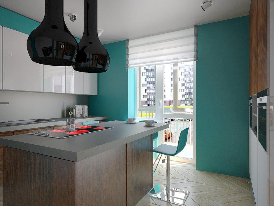 Фотография: Кухня и столовая в стиле Хай-тек, Квартира, Дома и квартиры, Проект недели, Пентхаус – фото на InMyRoom.ru
