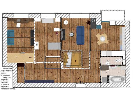 Планировка трехкомнатной квартиры для семьи с двумя детьми