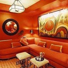 Фотография: Гостиная в стиле Восточный, Декор интерьера, Дизайн интерьера, Цвет в интерьере, Оранжевый – фото на InMyRoom.ru
