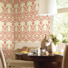 Фотография: Кухня и столовая в стиле Современный, Декор интерьера, Дизайн интерьера, Цвет в интерьере, Обои – фото на InMyRoom.ru