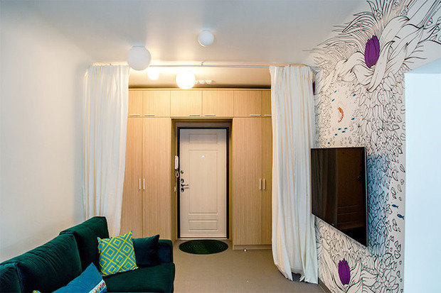 Фотография: Гостиная в стиле Современный, Кухня и столовая, Интерьер комнат, Elle Decoration – фото на InMyRoom.ru
