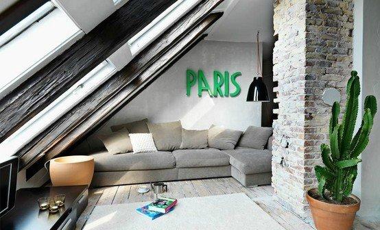 Фотография: Гостиная в стиле Лофт, Дом, Чердак, Мансарда – фото на InMyRoom.ru
