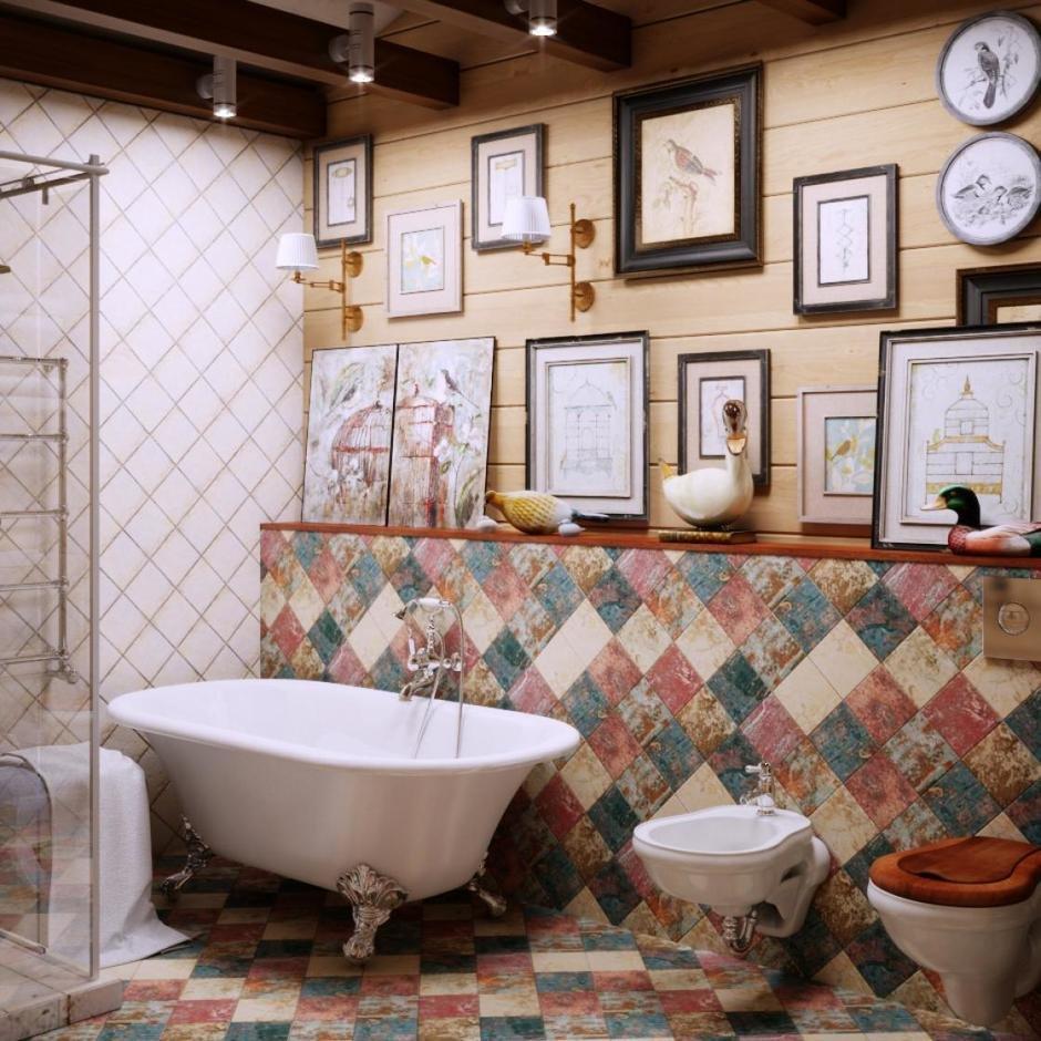 Фотография: Ванная в стиле Кантри, Дом, Проект недели, Челябинск, 3 комнаты, Более 90 метров, Марина Кутепова – фото на InMyRoom.ru