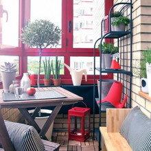 Фотография: Балкон в стиле Современный, Декор интерьера, Квартира, Интерьер комнат – фото на InMyRoom.ru