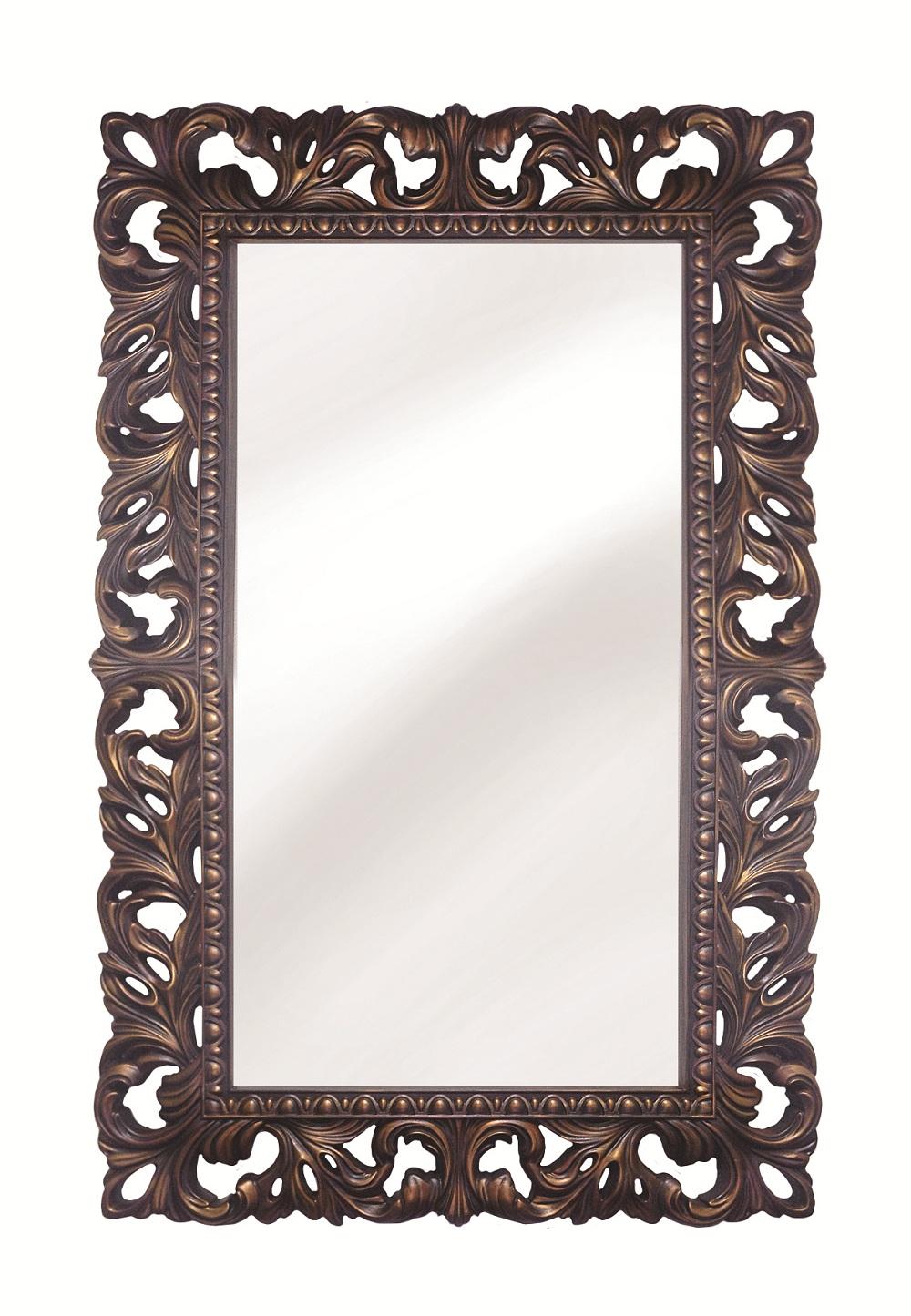 Настенное зеркало италия в декоративной раме с изысканным узором
