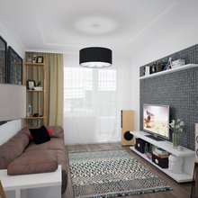 Фото из портфолио Однокомнатная квартира «Black&White» – фотографии дизайна интерьеров на InMyRoom.ru