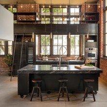 Фото из портфолио Модный дизайн кухни из нержавеющей стали! – фотографии дизайна интерьеров на InMyRoom.ru