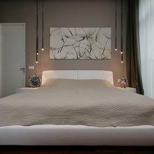 Фотография: Спальня в стиле Современный, Квартира, Украина, Цвет в интерьере, Дома и квартиры, Белый, Светильники, Кухонный остров – фото на InMyRoom.ru