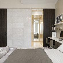Фотография: Спальня в стиле Лофт, Кабинет, Интерьер комнат – фото на InMyRoom.ru