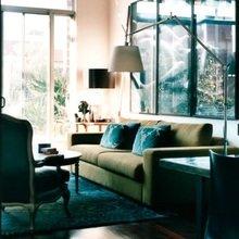 Фотография: Гостиная в стиле Кантри, Декор интерьера, Декор дома, Цвет в интерьере, Белый, Бассейн – фото на InMyRoom.ru