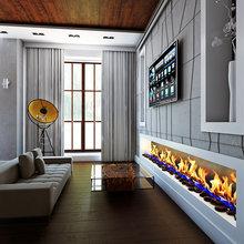 Фото из портфолио Современный интерьер с биокамином – фотографии дизайна интерьеров на InMyRoom.ru