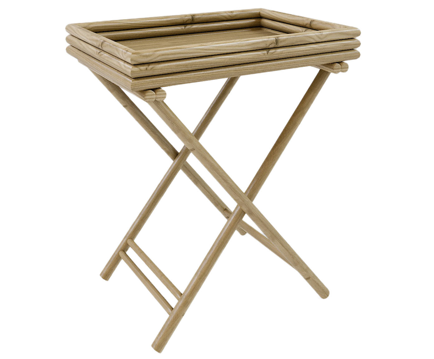 Стол-поднос из бамбука