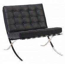 Кресло Barcelona Chair Черная Кожа