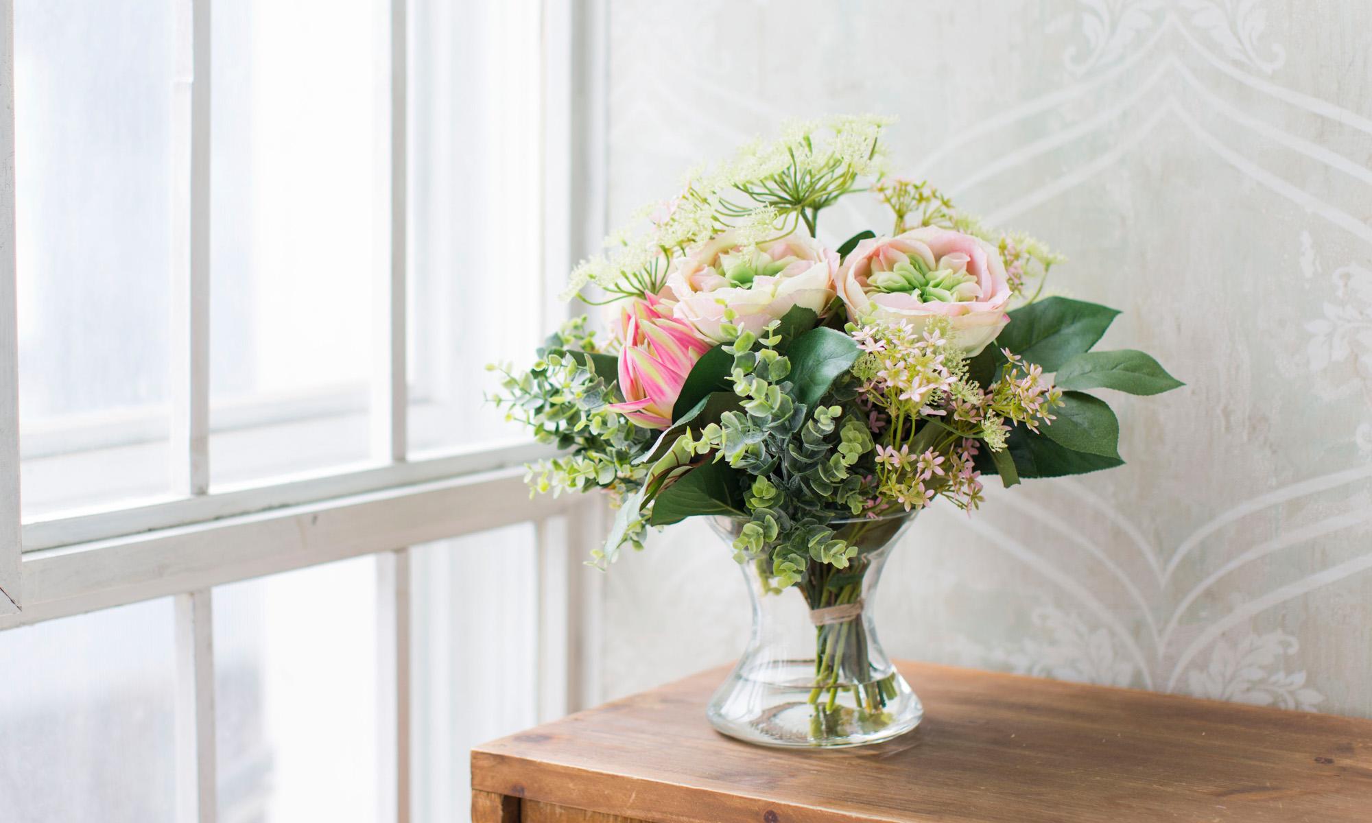 Купить Композиция из искусственных цветов - розы и протея, inmyroom, Россия