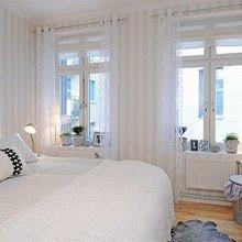 Фотография: Спальня в стиле Скандинавский, Интерьер комнат, Мебель и свет, Цвет в интерьере, Белый, Гардероб – фото на InMyRoom.ru